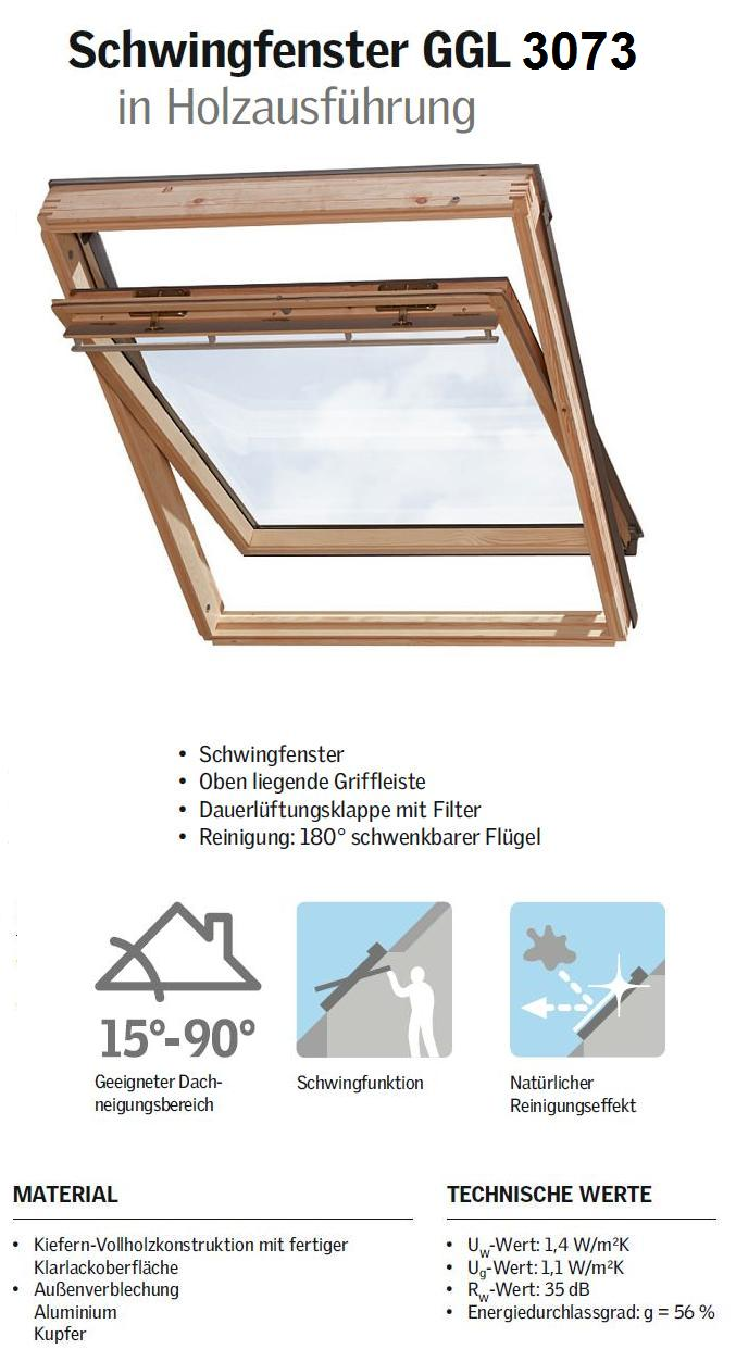fen tre de toit velux ggl 3059 thermo star original swing. Black Bedroom Furniture Sets. Home Design Ideas