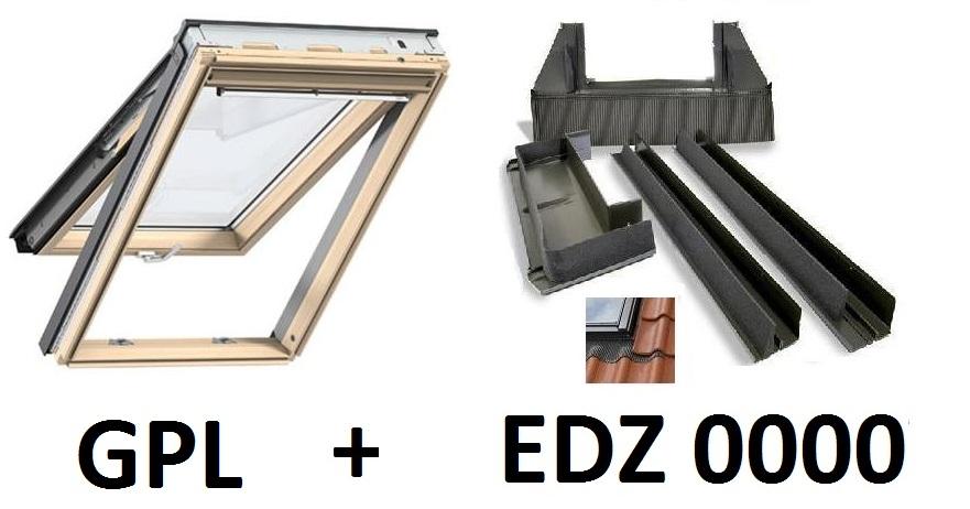 velux dachfenster gpl pk08 3050 94x140 cm thermo star eindeckrahmen edz ebay. Black Bedroom Furniture Sets. Home Design Ideas