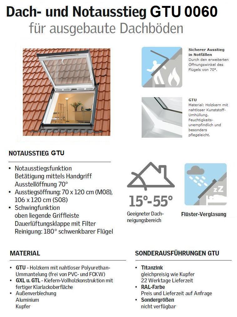 velux gtu s08 0060 k 114x140 cm dachmax. Black Bedroom Furniture Sets. Home Design Ideas