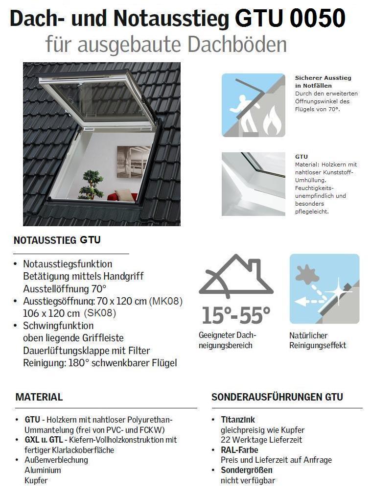 velux gtu sk08 0050 114x140 cm alternative zu 0059 thermo star dachmax. Black Bedroom Furniture Sets. Home Design Ideas