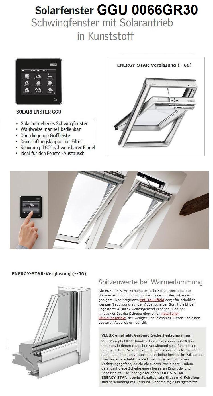 velux ggu fk06 006630 66x118 solarfenster aus kunststoff. Black Bedroom Furniture Sets. Home Design Ideas