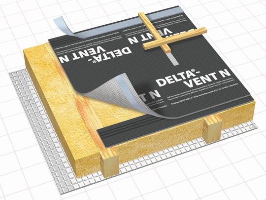 hochdiffusionsoffene unterspannbahn unterdeckbahn d rken delta vent n 75m2 dachmax. Black Bedroom Furniture Sets. Home Design Ideas