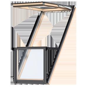 Kunststoff Dachfenster 66x118 Cm Mit Eindeckrahmen Fakro