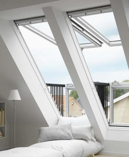 velux cabrio duo 2x gdl sk19 2066 114x252 cm weiss lackiert dachmax. Black Bedroom Furniture Sets. Home Design Ideas