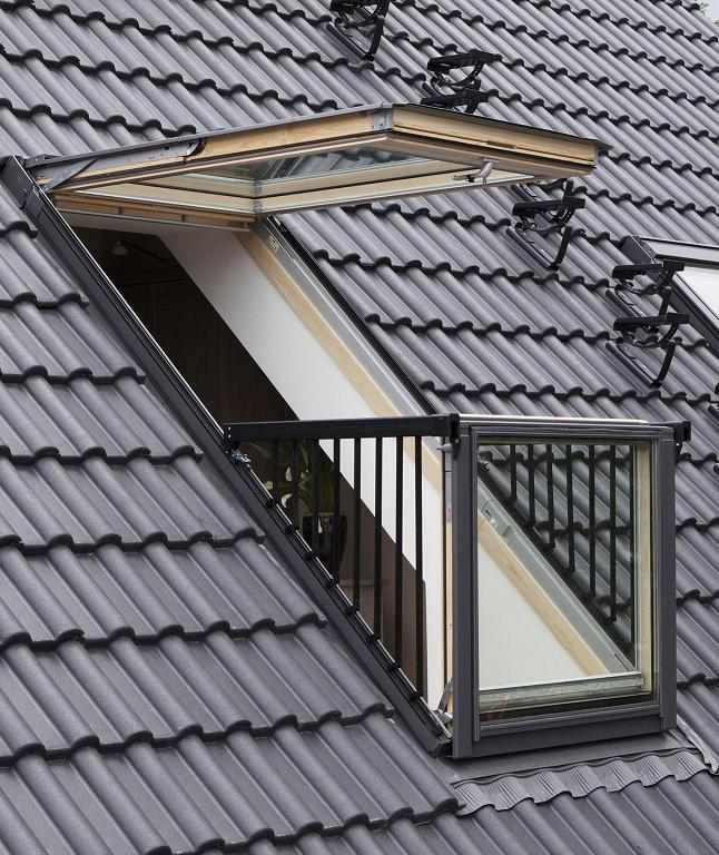 attic window ideas - Velux GDL SK19 3066 114x252 cm Kabriofenster Dachbalkon