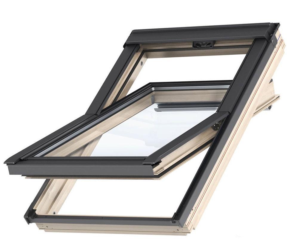 original velux dachfenster schwingfenster holz fenster eindeckrahmen edz. Black Bedroom Furniture Sets. Home Design Ideas