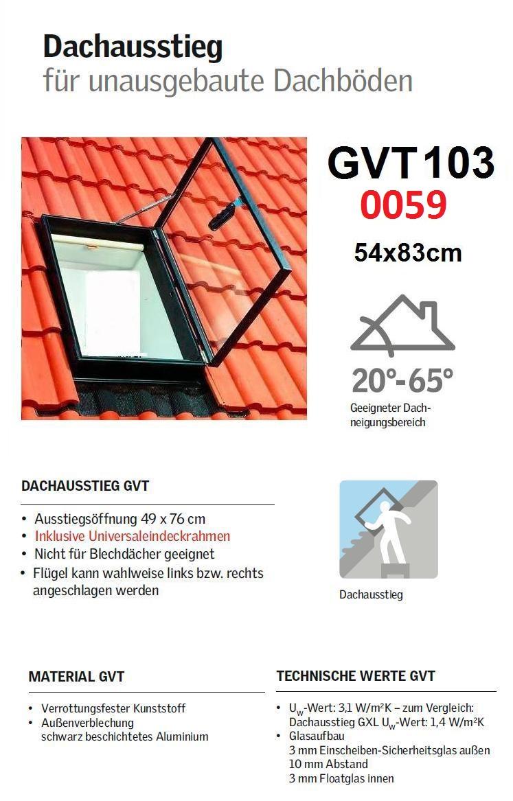 velux gvt 103 0059 ausstiegsfenster aussteiger dachausstieg dachluke 54 x 83cm ebay. Black Bedroom Furniture Sets. Home Design Ideas