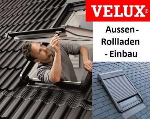 original velux elektro aussen rollladen sml sk06 0000 volet roulant lectrique ebay. Black Bedroom Furniture Sets. Home Design Ideas