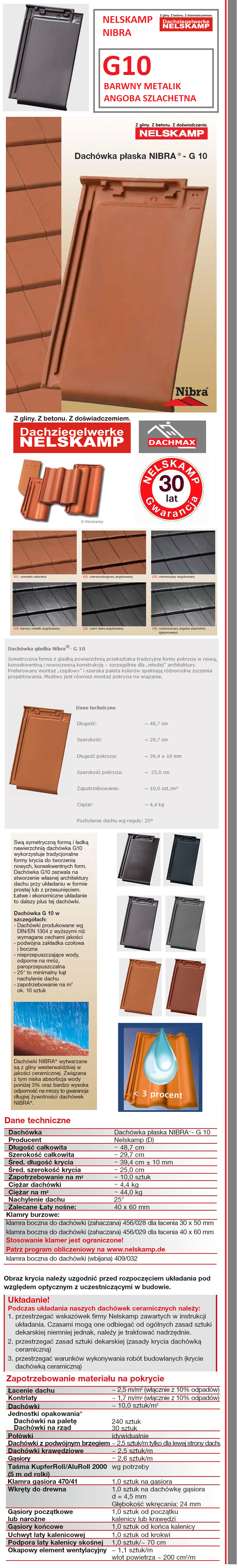 g10 dach wka nelskamp nibra barwny metalik angoba szlachetna. Black Bedroom Furniture Sets. Home Design Ideas