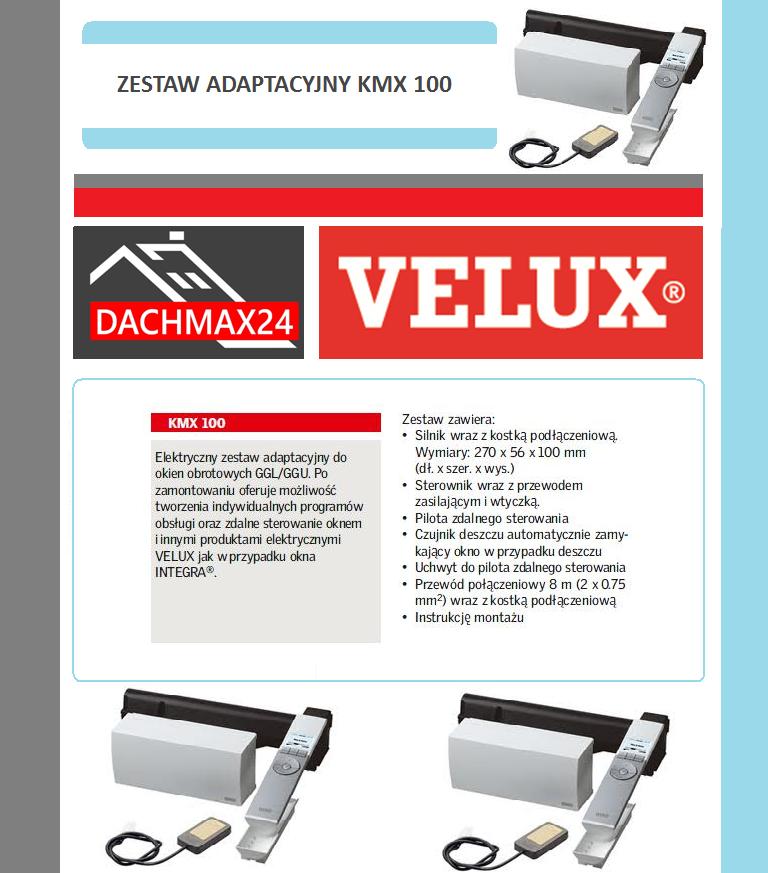 Elektryczny zestaw adaptacyjny do okien obrotowych Velux - KMX 100