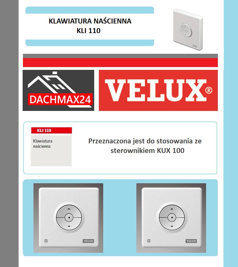 Klawiatura naścienna Velux - KLI 110