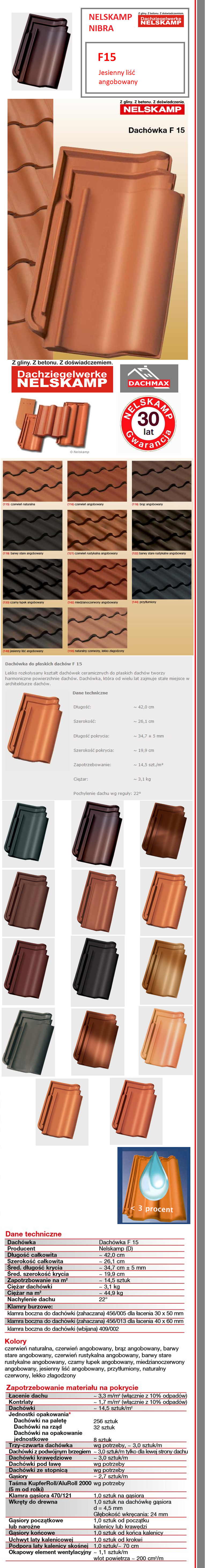 f15 dach wka nelskamp nibra jesienny li angobowany. Black Bedroom Furniture Sets. Home Design Ideas