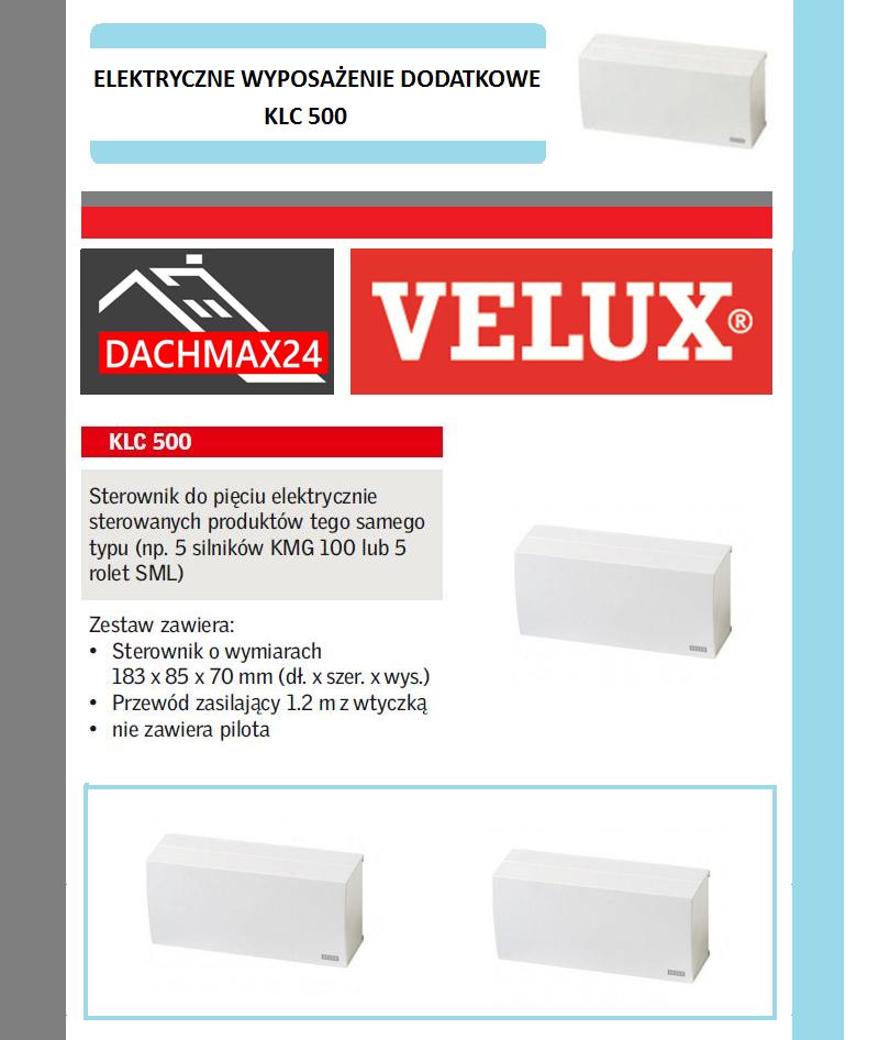 Sterownik do 5 produktów Velux - KLC 500