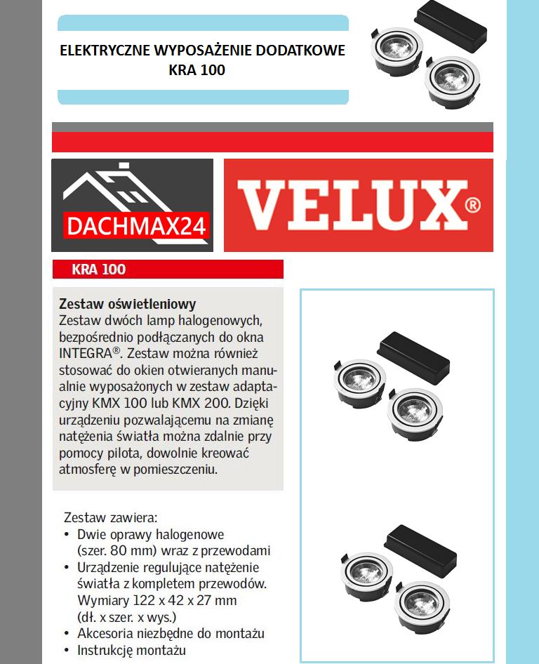 Zestaw oświetleniowy Velux - KRA 100