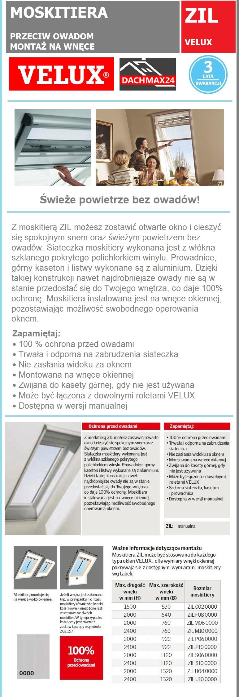 moskitiera rolowana velux zil ochrona przed owadami. Black Bedroom Furniture Sets. Home Design Ideas
