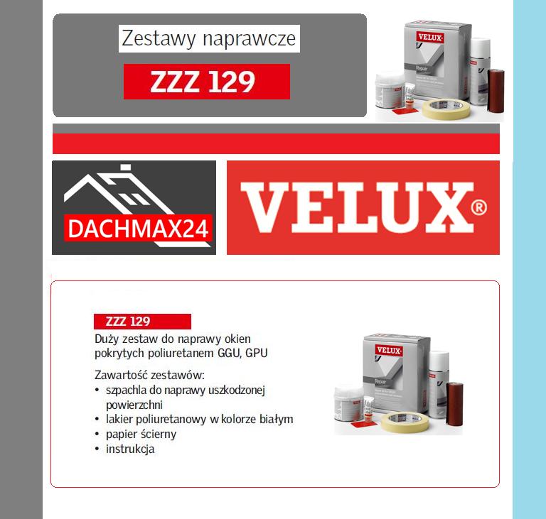Zestaw naprawczy do okien dachowych Velux - ZZZ 129