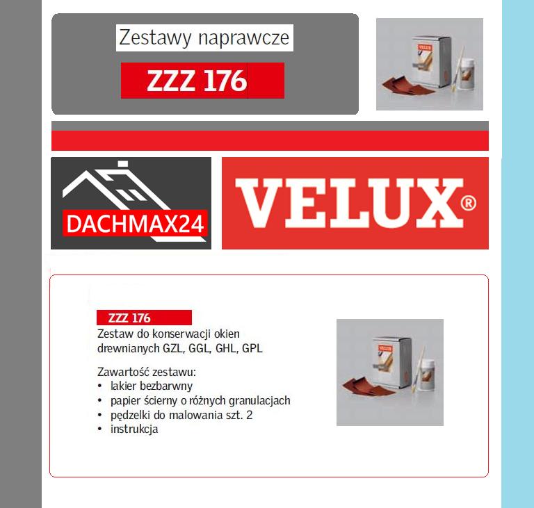 Zestaw naprawczy do okien dachowych Velux - ZZZ 176