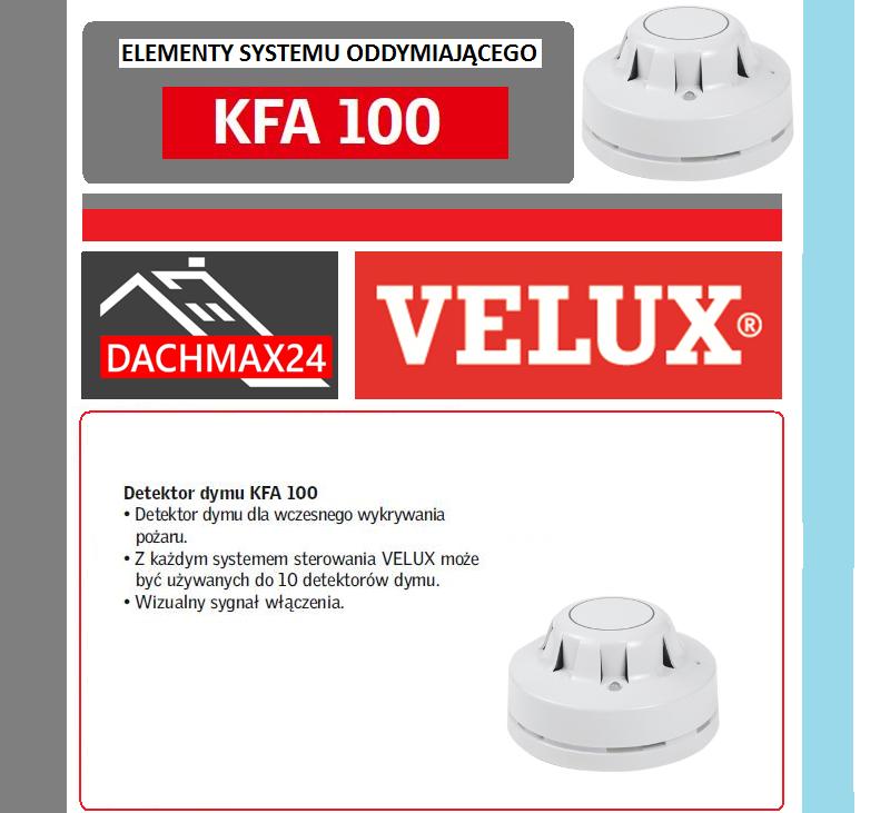 Elementy systemu oddymiającego Velux - KFA 100 detektor dymu