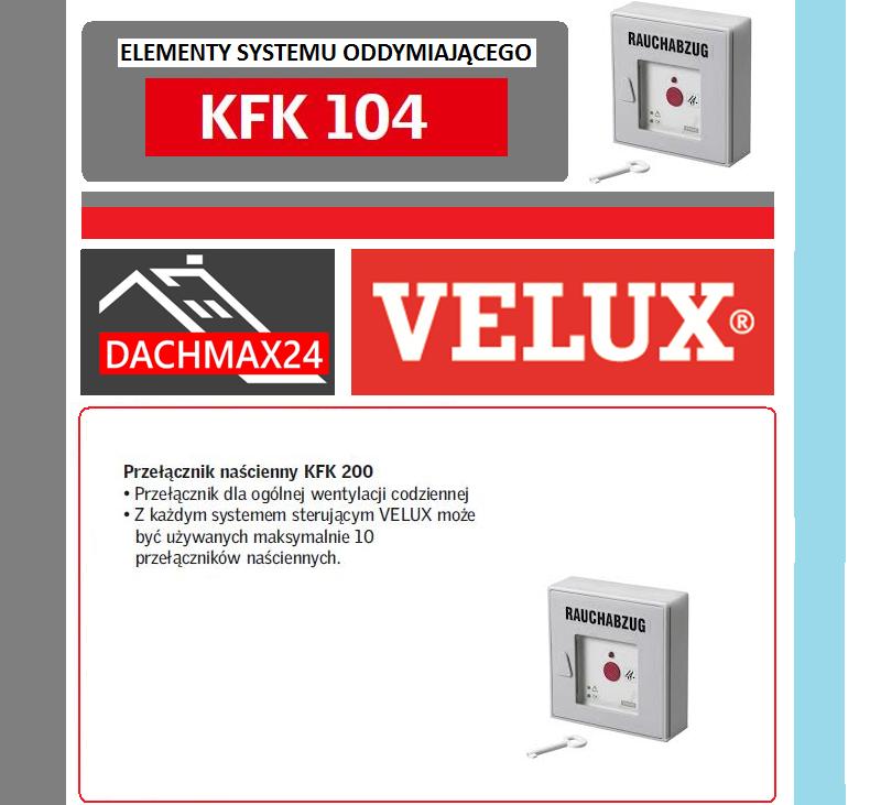 Elementy systemu oddymiającego Velux - KFK 104 przycisk stłuczeniowy