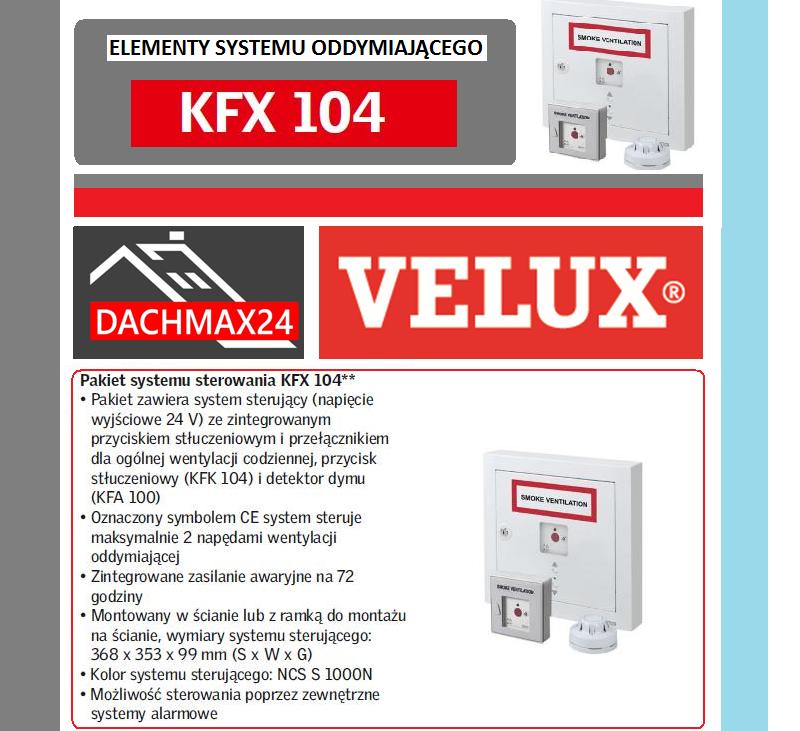 Elementy systemu oddymiającego Velux - KFX 104