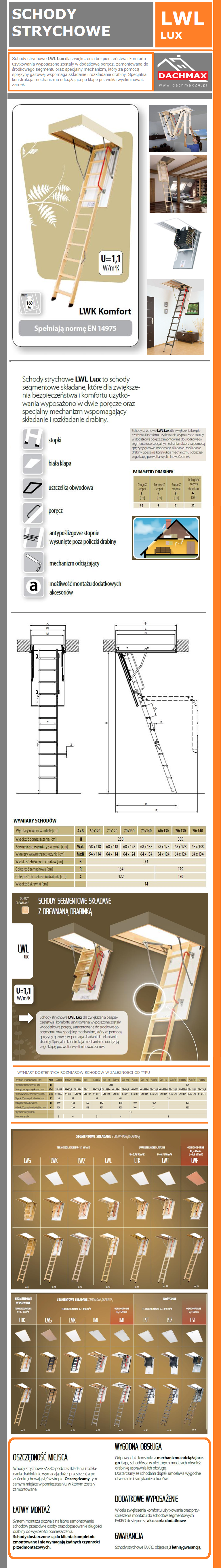 lwl lux schody strychowe fakro segmentowe sk adane z drewnian drabink dwie por cze. Black Bedroom Furniture Sets. Home Design Ideas