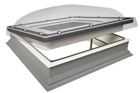 Flachdach fenster lichtkuppel fakro dmc c p2 60x60 cm for Fenster 70x70
