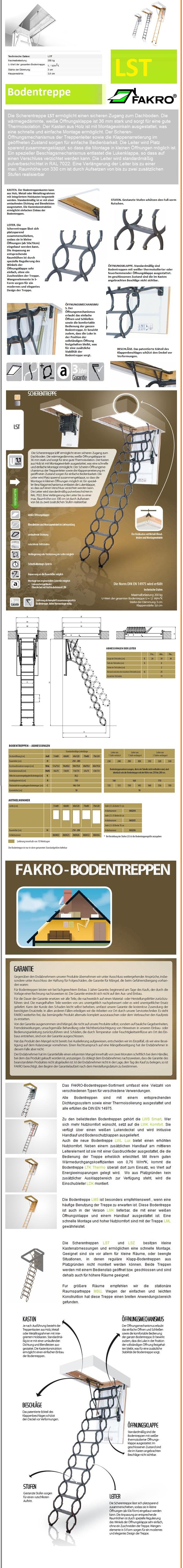 Scherentreppe LST Fakro