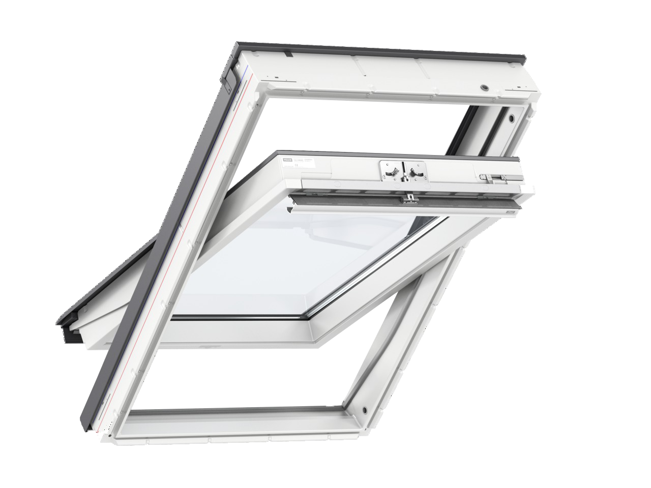 original velux dachfenster schwingfenster kunststoff. Black Bedroom Furniture Sets. Home Design Ideas