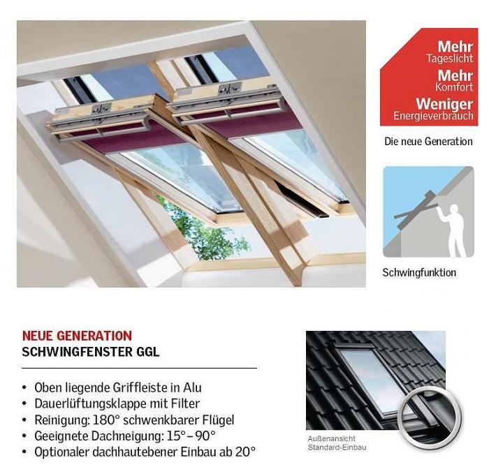 schwing fenster velux ggl 3068 energie dachfenster aus holz dachmax dachfenster shop velux fakro. Black Bedroom Furniture Sets. Home Design Ideas