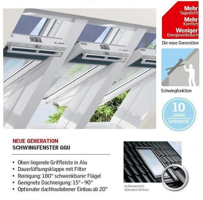 dachfenster velux ggu 0070 thermo schwing fenster aus kunststoff dachmax dachfenster shop velux. Black Bedroom Furniture Sets. Home Design Ideas
