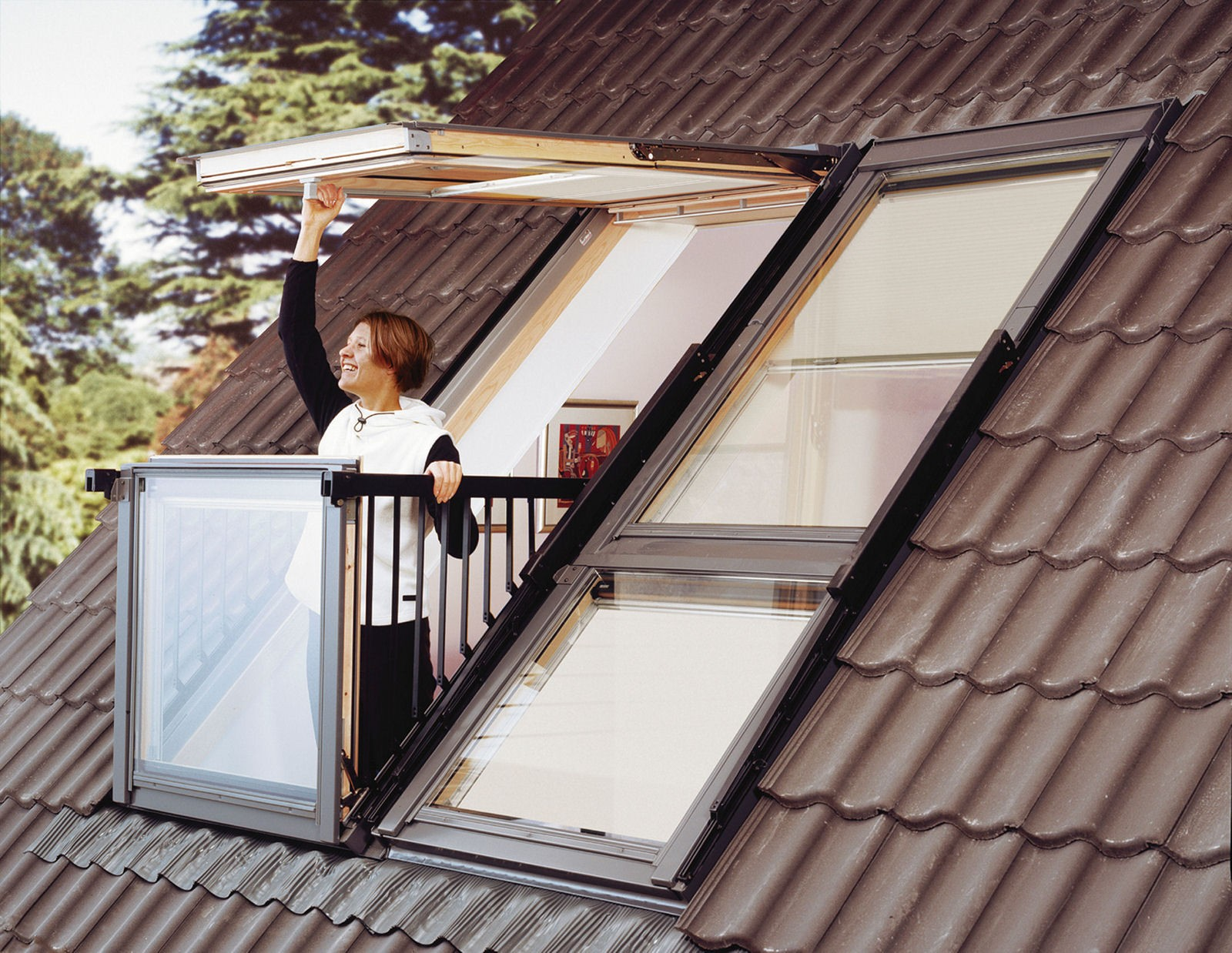 dachfenster cabrio duo velux gdl pk19 energie holz klar lackiert