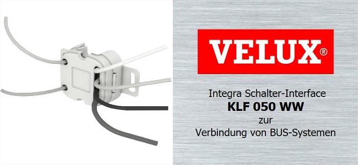 velux integra schalter interface klf 050 ww verbindung von bus io homecontrol ebay. Black Bedroom Furniture Sets. Home Design Ideas
