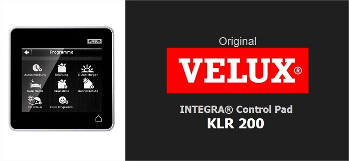 original velux integra control pad touchscreen bedienung touchpad klr 200 ebay. Black Bedroom Furniture Sets. Home Design Ideas