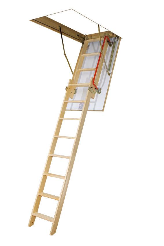 Top Bodentreppe LDK Fakro mit Schiebeleiterteil aus Holz DachMax UN99
