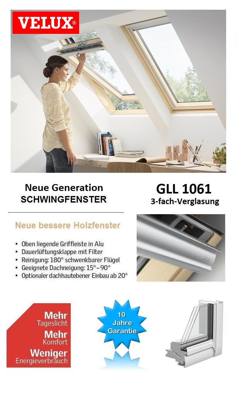 dachfenster aus holz velux energie ggl 3066 3 fach verglasung gll 1061 ebay. Black Bedroom Furniture Sets. Home Design Ideas