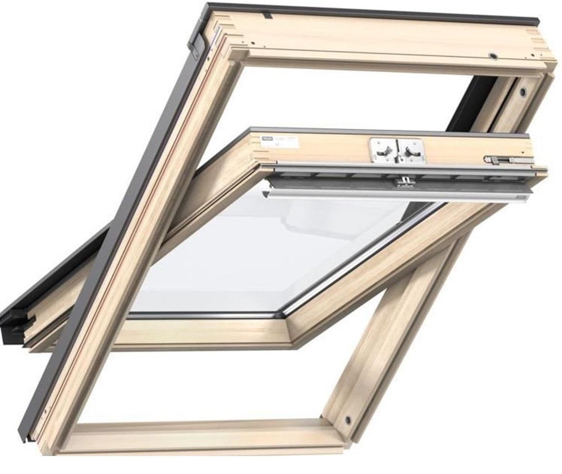original velux dachfenster schwingfenster holz fenster eindeckrahmen edz edb eds ebay. Black Bedroom Furniture Sets. Home Design Ideas