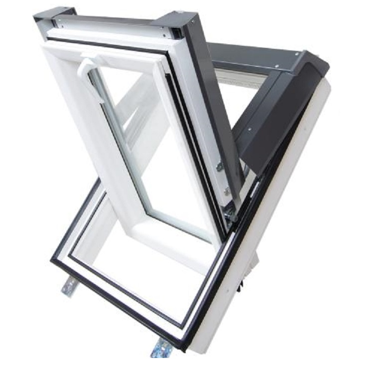 dachfenster kunststoff skylight premium 66x118 velux gpu fk06 ebay. Black Bedroom Furniture Sets. Home Design Ideas